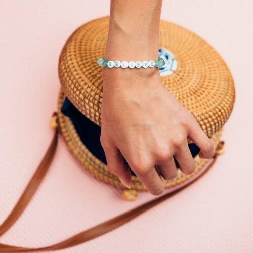 TINKALINK Crystal Healing Bracelet Aventurine Believe