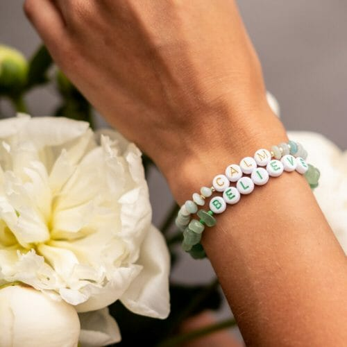 TINKALINK Crystal Healing Bracelet Amazonite Aventurine Calm Believe