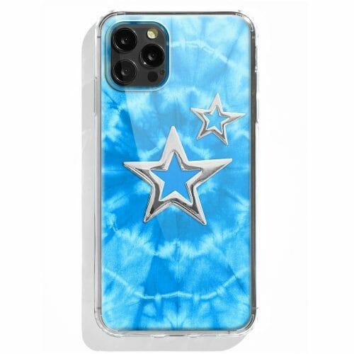 TINKALINK iPhone !2 Pro Case Talisman Byron Bay Blue Skin Star Charms Silver