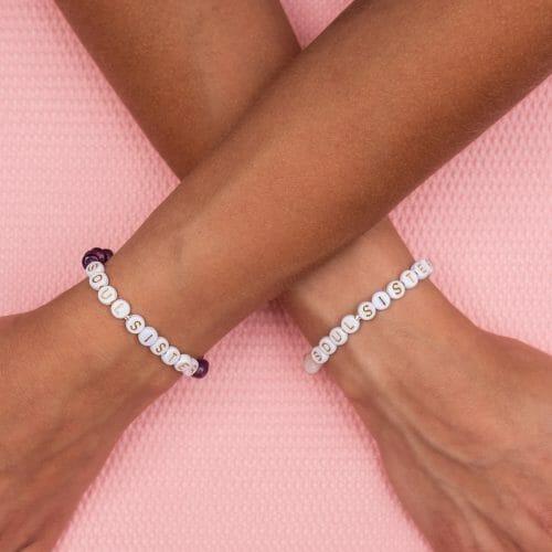 TINKALINK Crystal Healing Bracelet TINKALINK Crystal Healing Bracelets Rose Quartz Amethyst Soul Sister