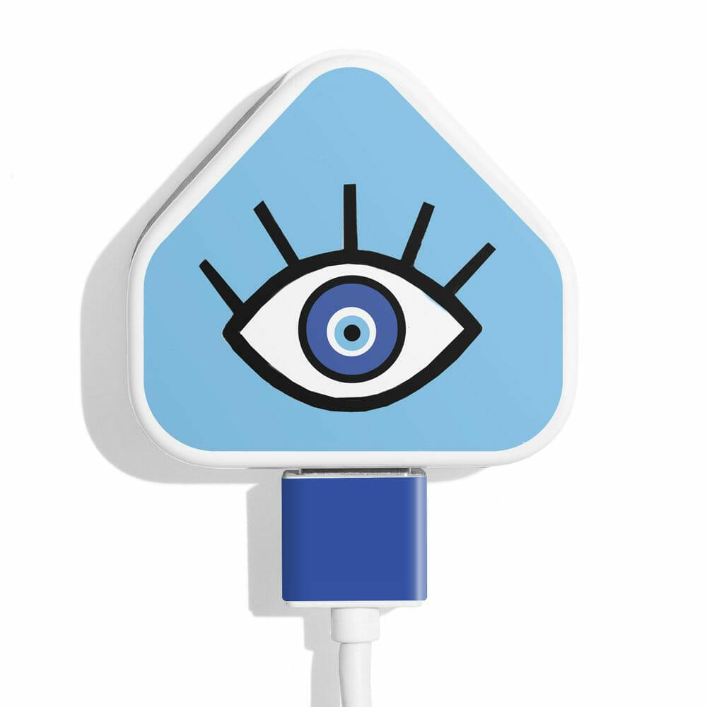 TINKALINK Charger Skin Evil Eye Blue Vinyl