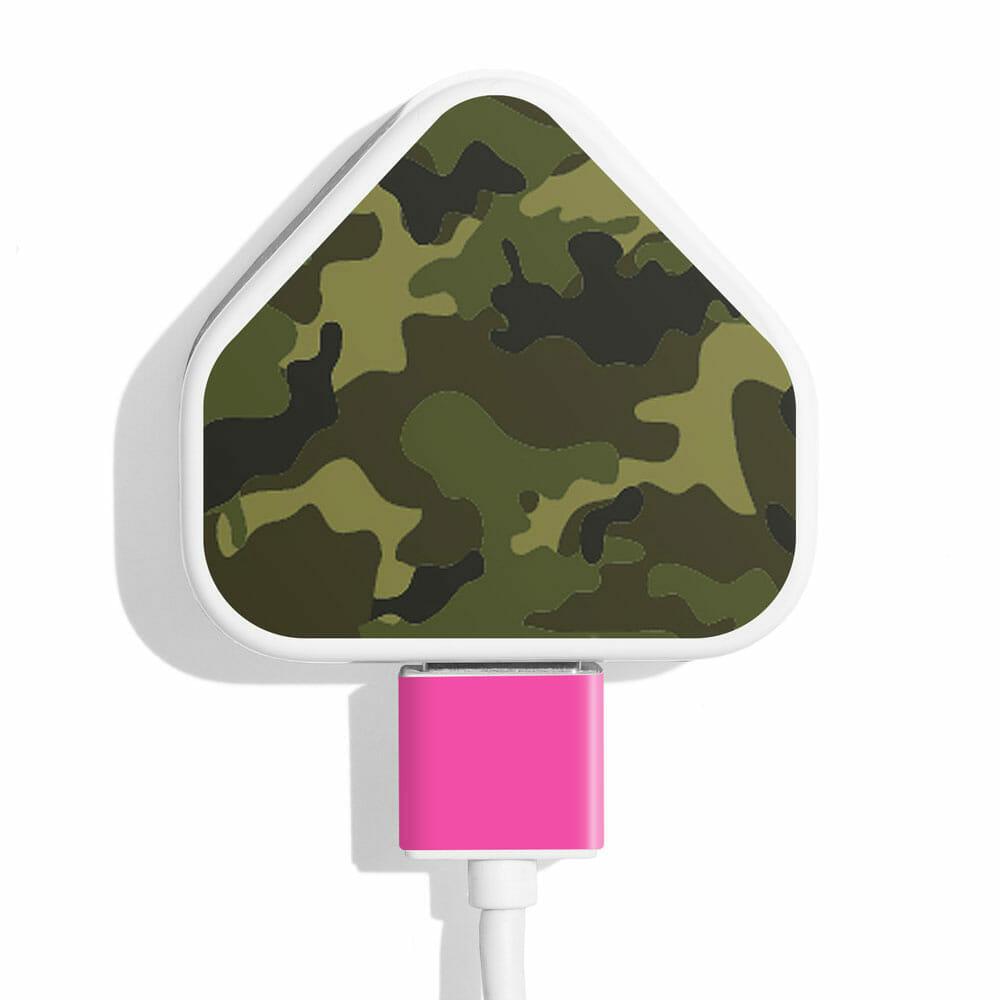 TINKALINK Charger Skin Green Camo Pink Vinyl
