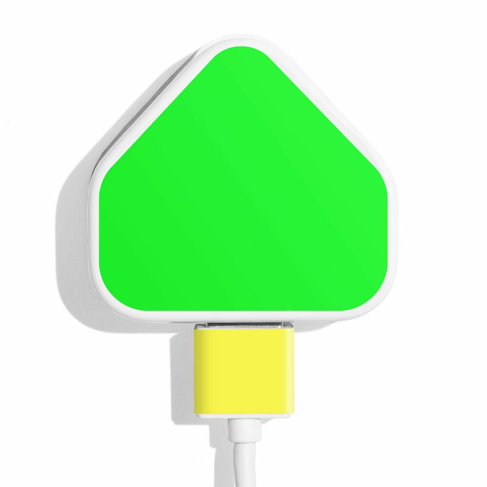 TINKALINK Charger Skin Neon Green Yellow Vinyl