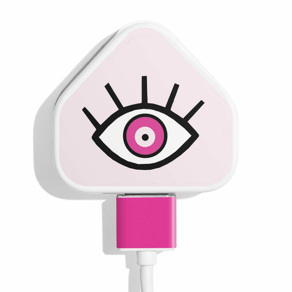 TINKALINK Charger Skin Pink Magic Eye Vinyl