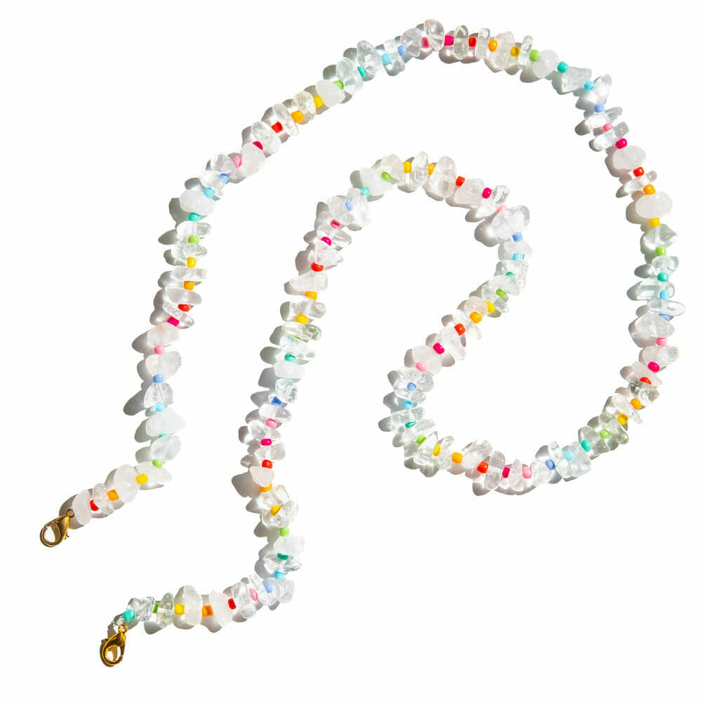 TINKALINK Crystal Healing Glasses Chain 3-in-1 Clear Quartz