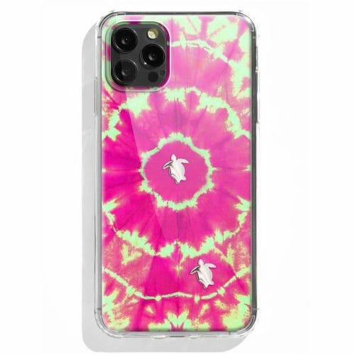 TINKALINK iPhone 12 Pro Case Talisman Byron Bay Pink Skin Turtle Charms Gold