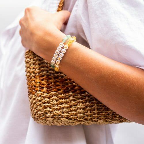 TINKALINK Crystal Healing Bracelet Citrine Aventurine Smile Always