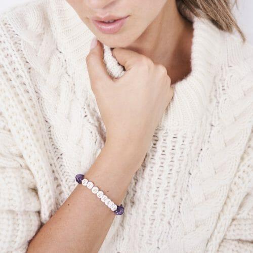 TINKALINK Crystal Healing Bracelet Amethyst Strength