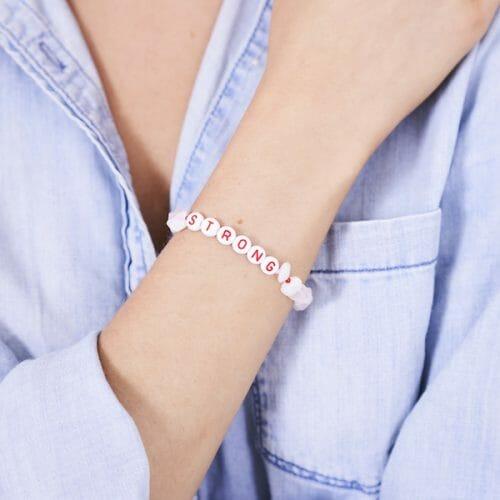 TINKALINK Crystal Healing Bracelet Rose Quartz Strong