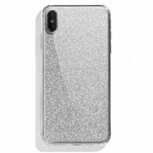 TINKALINK iPhone XS Case Talisman Silver Glitter Skin
