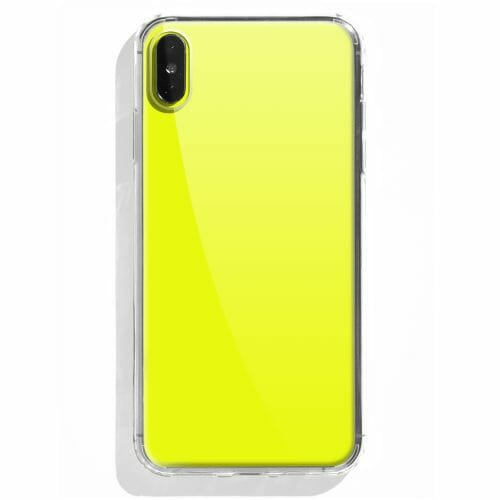 TINKALINK iPhone XS Case Neon Yellow Skin