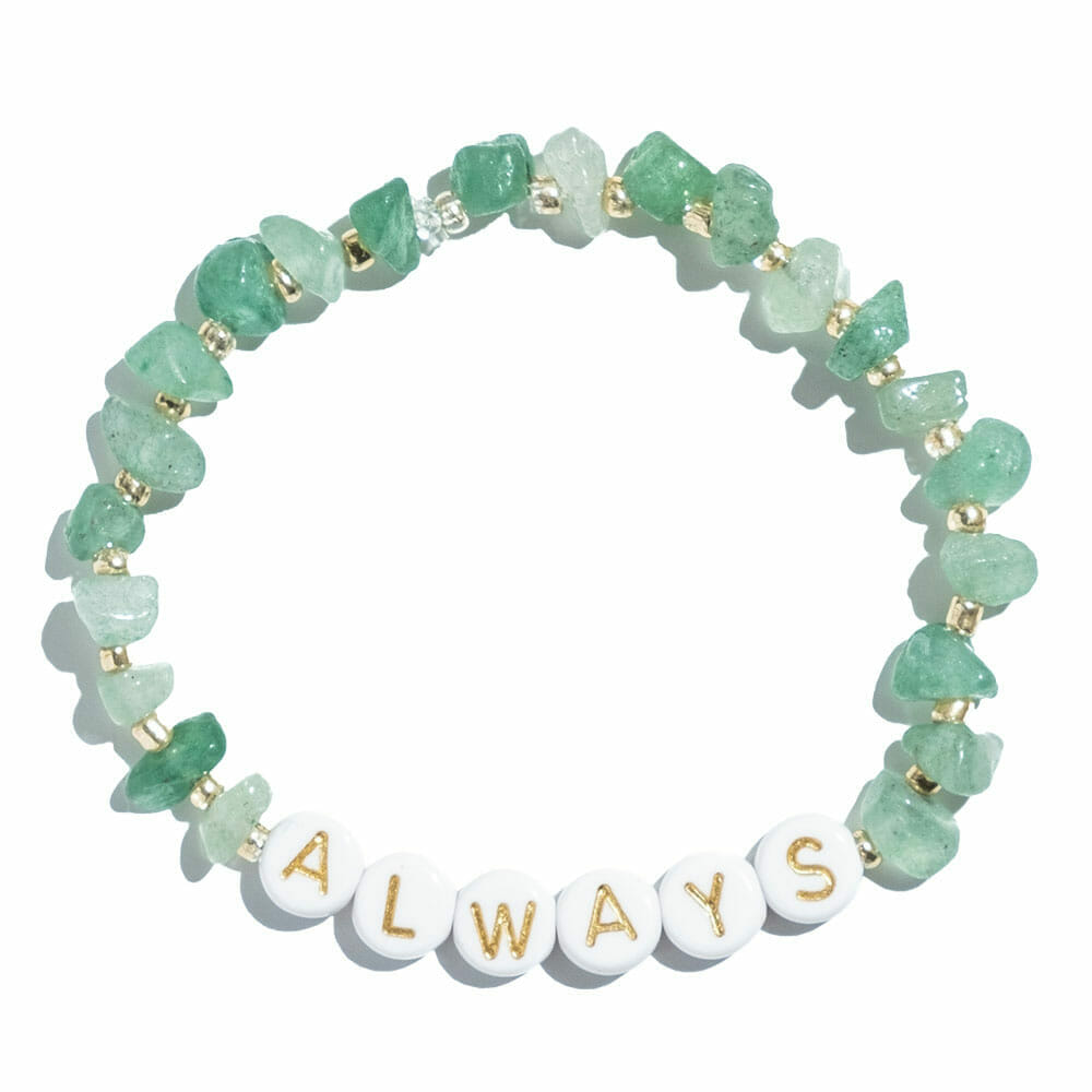 TINKALINK Crystal Healing Bracelets Aventurine Always