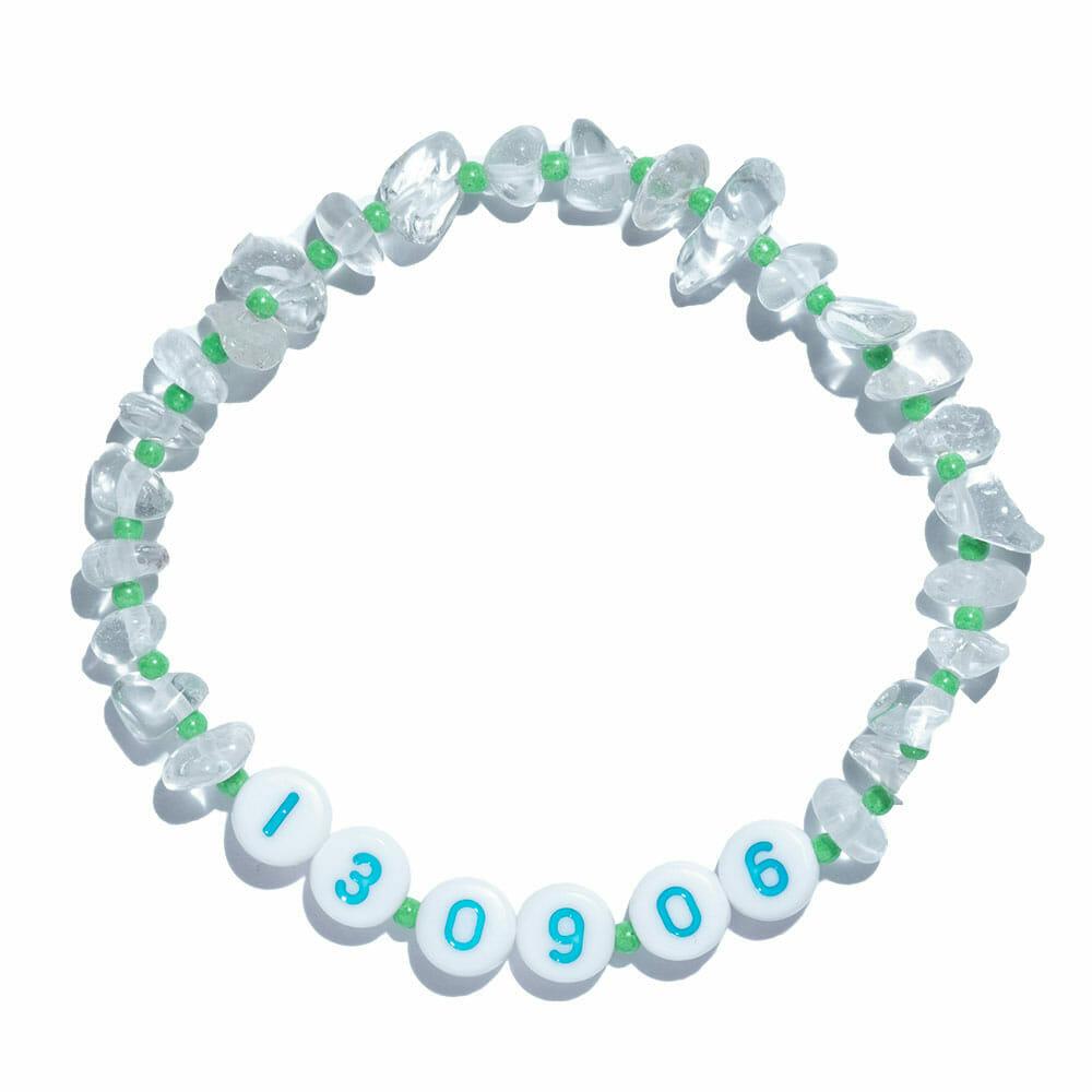 TINKALINK Crystal Healing Bracelet Clear Quartz Dates and Digits