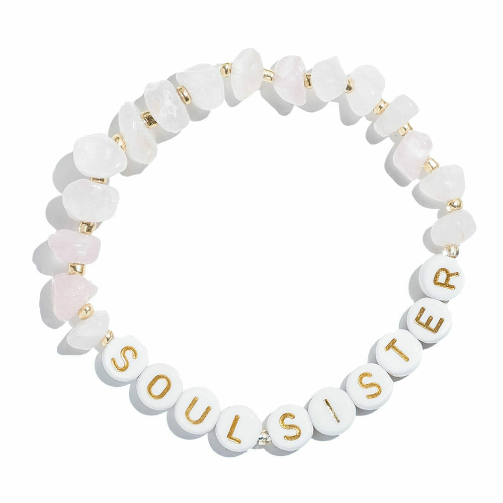 TINKALINK Crystal Healing Bracelets Rose Quartz Soul Sister