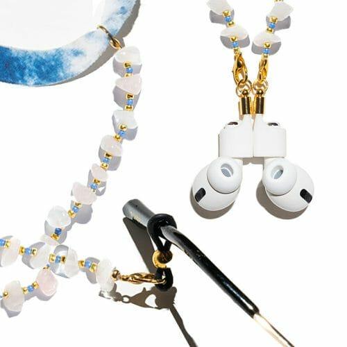 TINKALINK Crystal Healing Glasses Chain 3-in-1 Rose Quartz